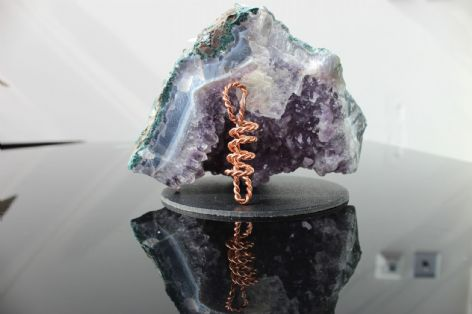 Tensor Ring Sacred Cubit Dragon Wand Pendant